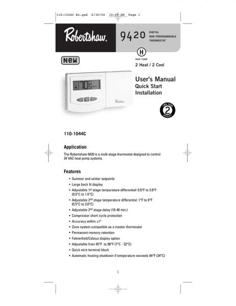 9420 User Manual