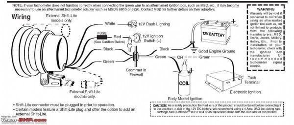 Pro Tachometer Wiring Diagram