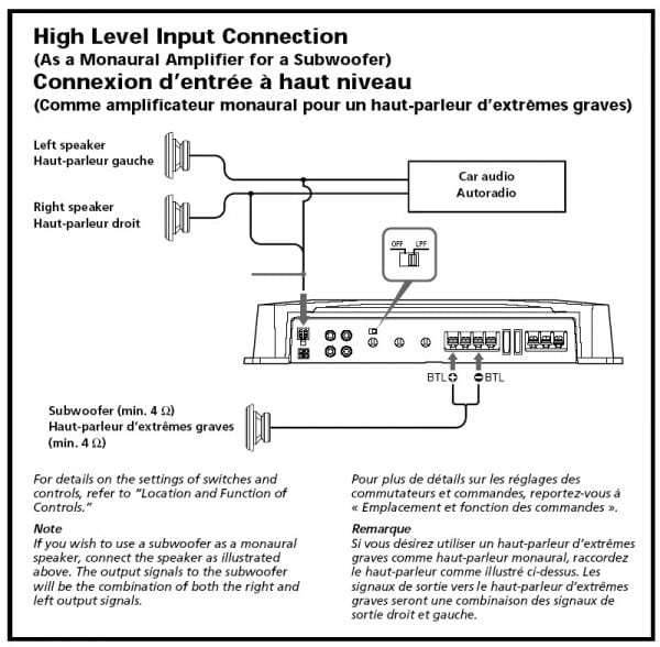 Sony Xplod Sub And Amp Wiring Diagram