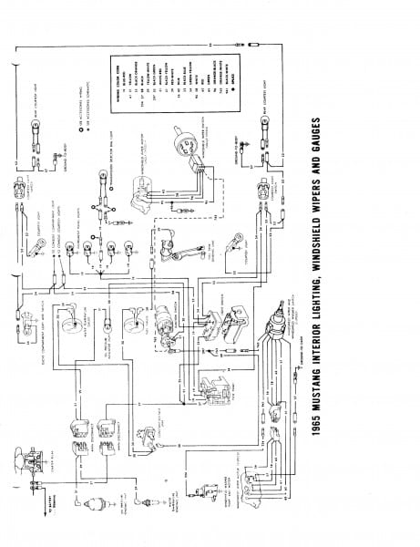 1964 1965 Wiring Diagram Manual Ford Mustang Forum With