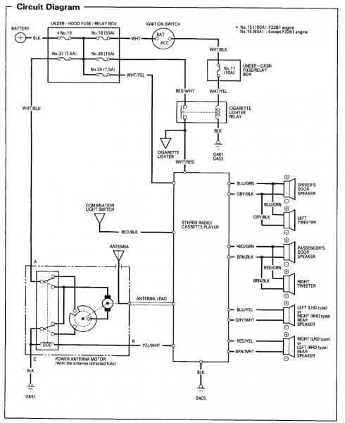 1996 Honda Accord Stereo Wiring Diagram