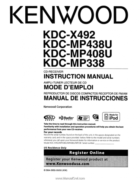 Kenwood Kdc Mp438u