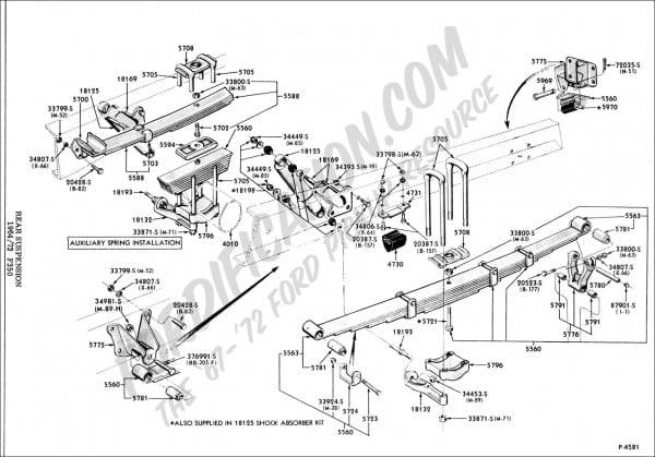 Ford F350 Rear Suspension Diagram