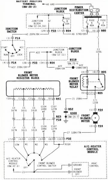1996 Dodge Caravan Heater Wiring Diagram