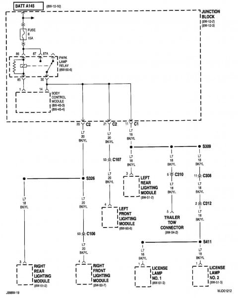 2004 Jeep Grand Cherokee Fuse Diagram