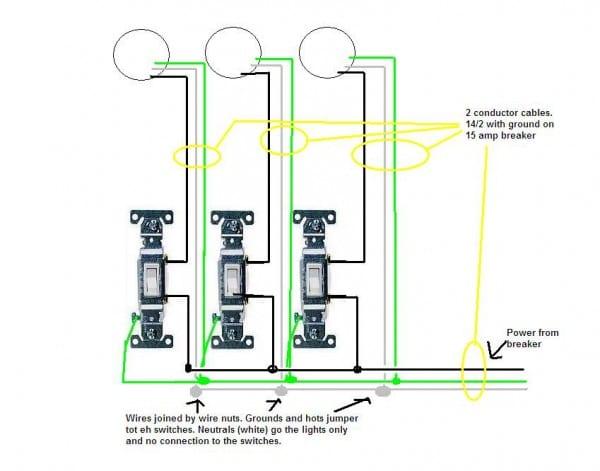 Mk 3 Gang Light Switch Wiring