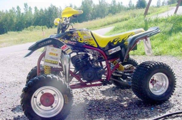 Jonathan Ouellet's 1996 Yamaha Blaster On Wheelwell