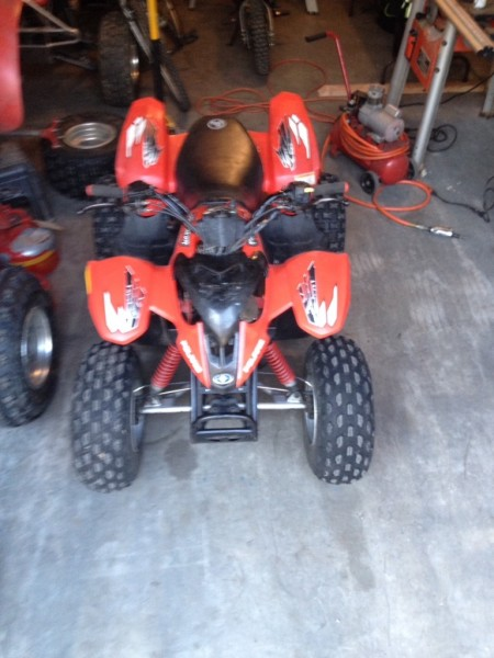 Polaris Predator 90 Front End To 300ex Conversion