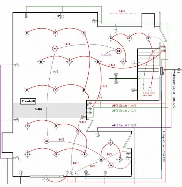 Basement Wiring Diagram For 60a Service  600sf