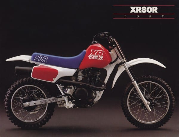 1987 Honda Xr80r Brochure Page 1