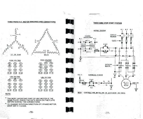 3 Phase Motor Wiring Diagram 230v Relay Me Auto Repair Symbols In