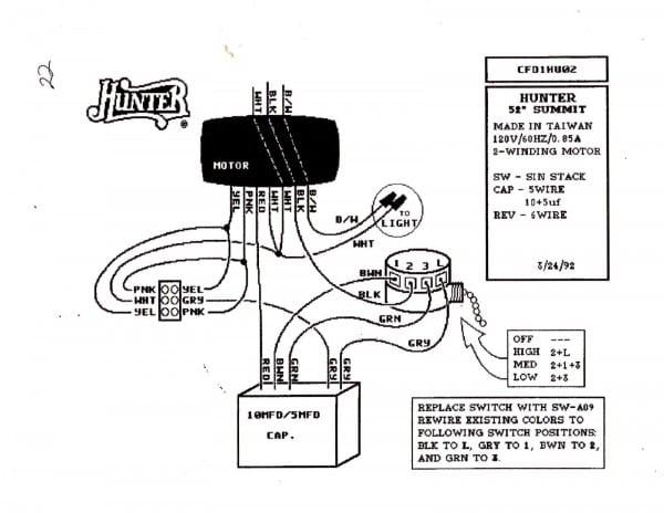 Electric 3 Speed Ceiling Fan Wiring