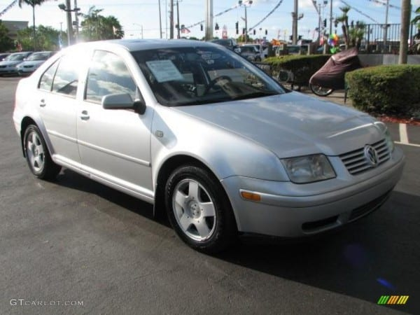 2000 Silver Arrow Metallic Volkswagen Jetta Gls Tdi Sedan