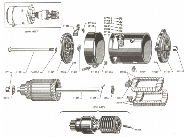 Starter Motor Parts For Ford Jubilee & Naa Tractors (1953