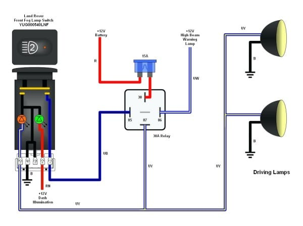 Aux Light Wiring Diagram 5 Wire Relay