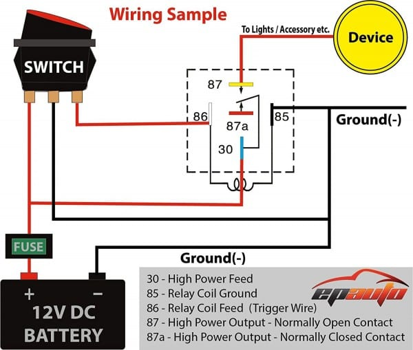 Driving Light Relay Wiring Diagram – Wiring Diagram Collection