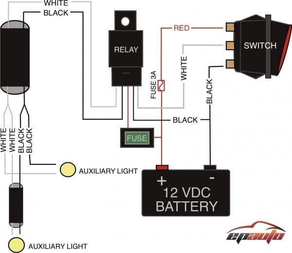 Amazon Com  Epauto Led Light Bar Wiring Harness Kit, 12v 40a Relay