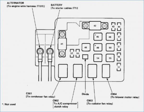 95 Accord Relay Fuse Box Diagram