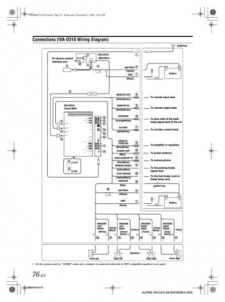 Alpine Ktp 445 Wiring Diagram Inside 445u 7