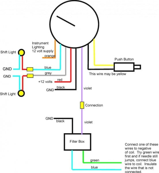 Autometer Pro Comp Tach Wiring Diagram