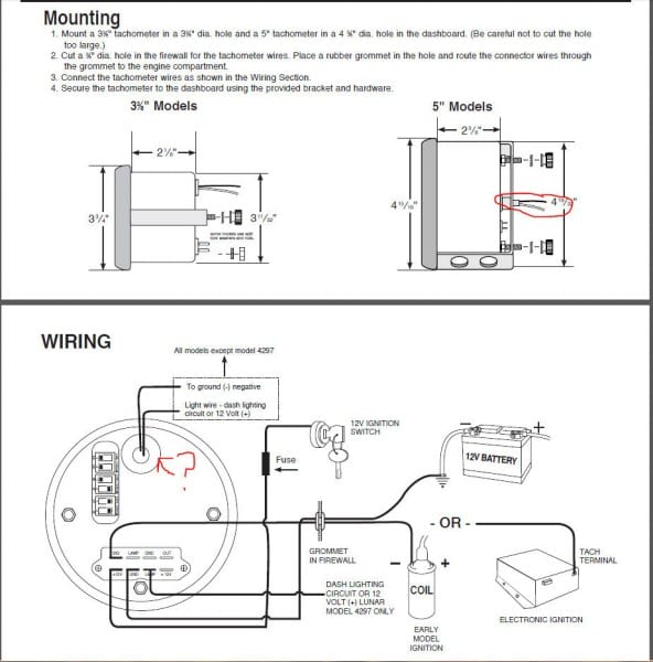Autometer Pro Comp Tach Wiring Diagram Daigram Also