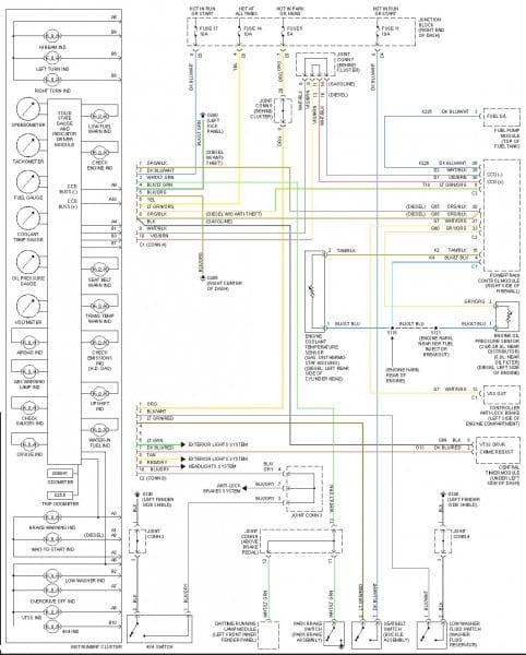 2000 Dodge Wiring Diagrams