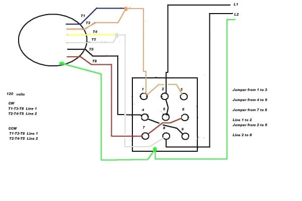 Capacitor Start Motor Wiring Diagram Forward Reverse Control With