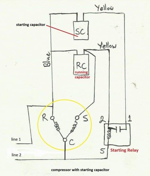 Capacitor Start Run Motor Wiring Diagram Website Of And