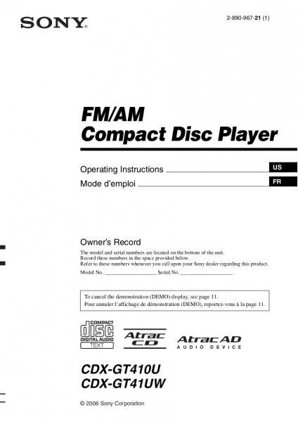Download Free Pdf For Sony Cdx