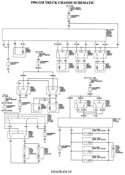 94 K1500 Transmission Wiring Diagram