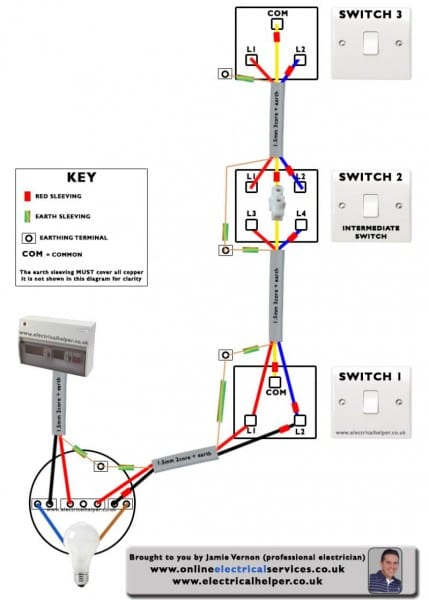 Complex 3 Way Light Switch Wiring Diagram Uk Intermediate And How