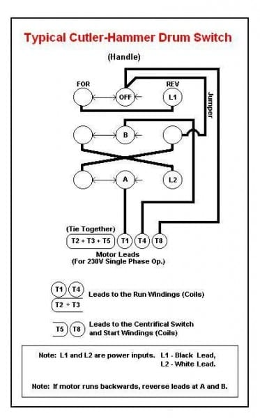 Dayton Drum Switch Wiring Diagram 120v