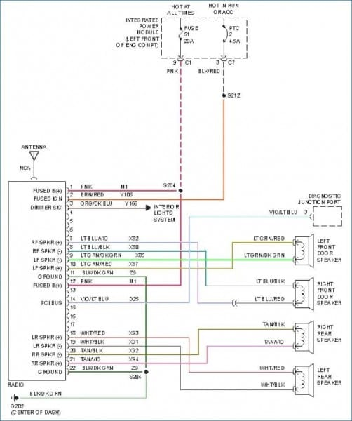 2002 Dodge Ram Radio Schematic