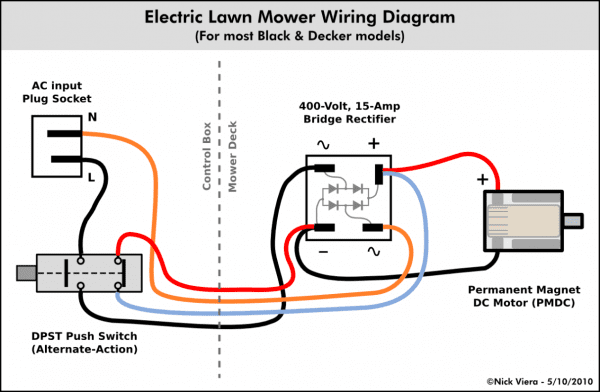 Double Pole Thermostat Wiring Diagram Toggle Switch To Mower