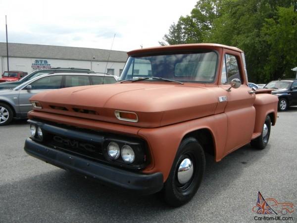 1964 Gmc Pickup Short Bed  Stop Side