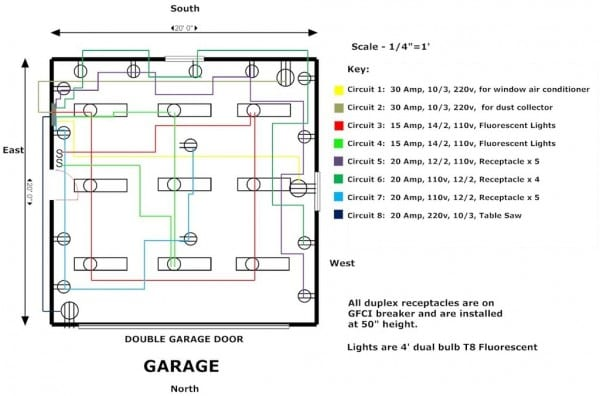 How To Wire A Garage Diagram