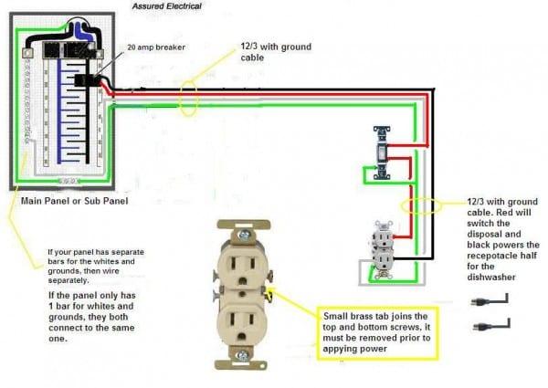 Double Garbage Disposal Switch Wiring Diagram