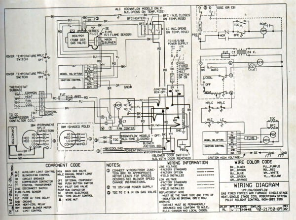 Goodman Furnace Wiring Diagram Thoritsolutions Com Within