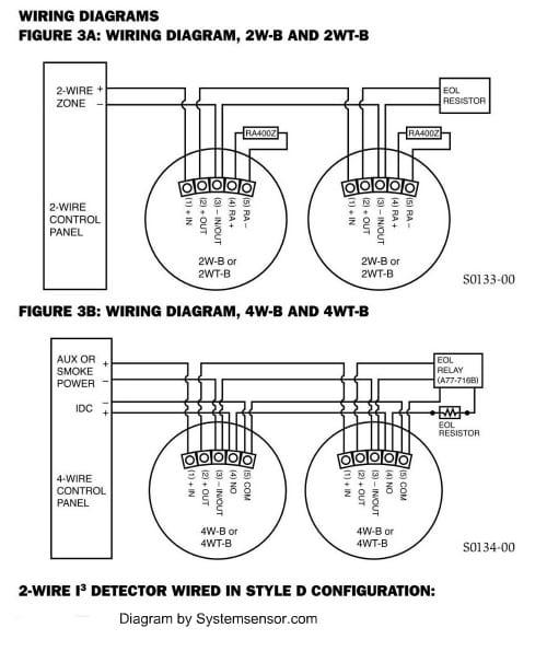 Smoke Detectors Wiring Diagrams For 4