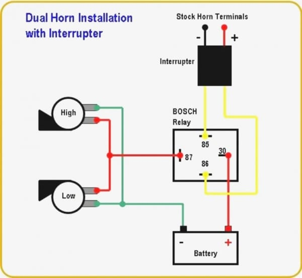 Horn Relay Diagram Wiring 2 Lenito For