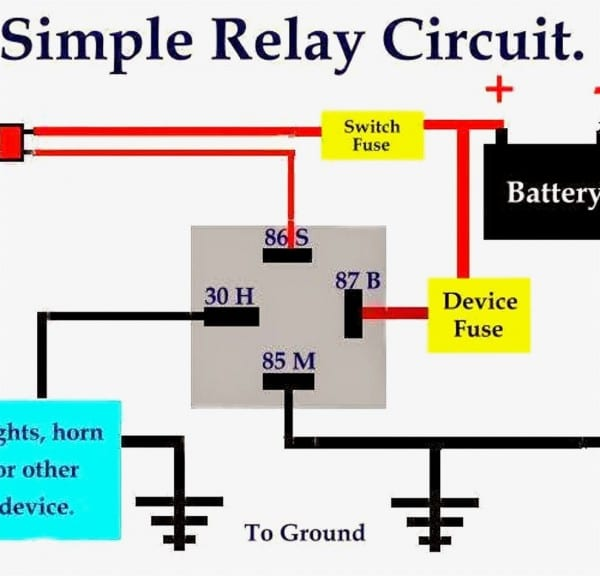 Horn Relay Simple Wiring Youtube And Bosch Relay Diagram For Horn