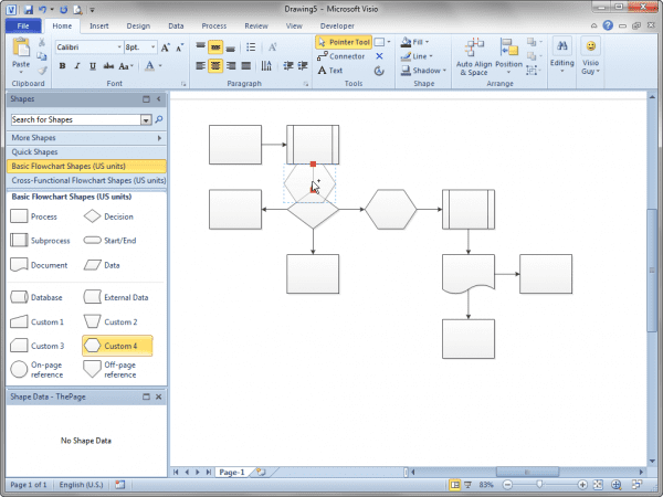 How To Create Workflow Diagram In Visio Processlow Chartlowchart