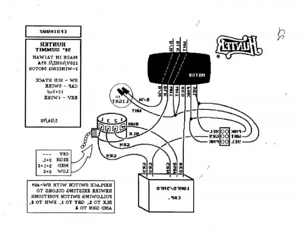Wiring Diagram Ceiling Fan Hunter Switch