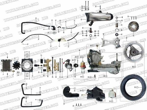 Roketa 250cc Scooter Parts Manual