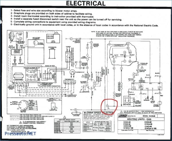Wiring Diagram For Lennox Furnace