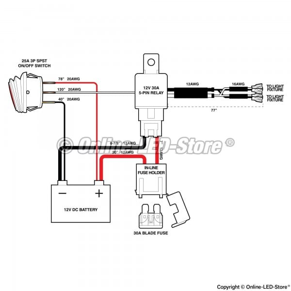 3 Pin Toggle Switch Wiring Diagram For
