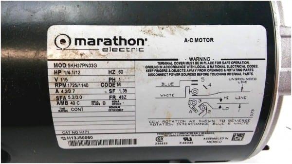 Fan Motor Wiring Diagram On C Motor Marathon Electric Wiring