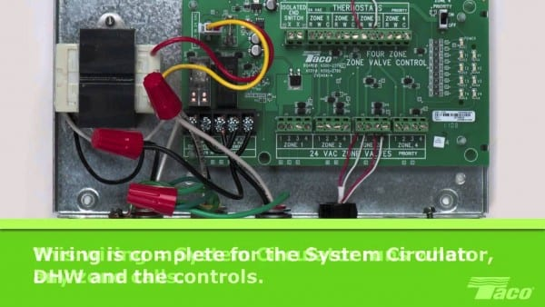 How To Wire A System Circulator To A Taco Zone Valve Control (zvc