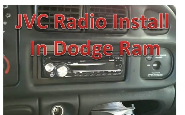 How To Install A Jvc Radio In A Dodge Ram, Part 2