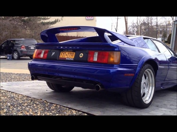 Azure Blue Lotus Esprit V8 Twin Turbo Startup Exhaust Sound